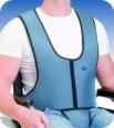 Arnês colete com apoio perineal